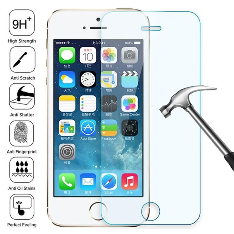 100D Transparent Tempered Glass For iPhone 7 8 6 6S Plus Glass Screen Protector On iPhone 5 5C 5S SE 2020 Glass Protective Film - HD Transparent / For iPhone 8 Plus / 9H Tempered Glass