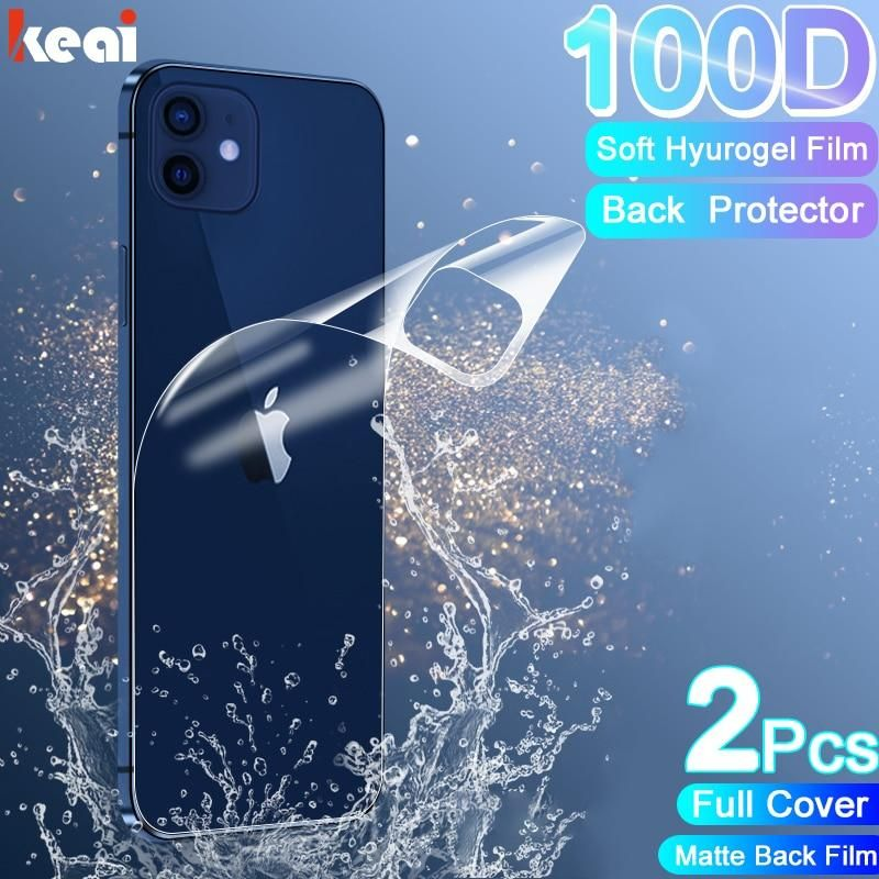 2PCS Full Cover Matte Hydrogel Film For iPhone 12 11 Pro MAX mini Screen Protector 12 X XR XS Max 7 8 6S Plus SE 2020 Back Film - China / For iPhone 12 ProMAX / Matte Front Film