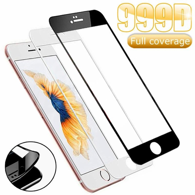999D Protective Tempered Glass For iPhone 7 8 6 6S Plus SE 2020 Glass Screen Protector iPhone X XS 11 Pro Xs Max XR Glass Film - For 6Plus or 6S Plus / Black